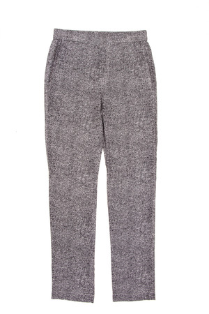 belongings: gray womens pants on a white background