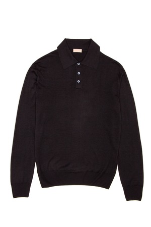 modish: Black mens sweater on a white background