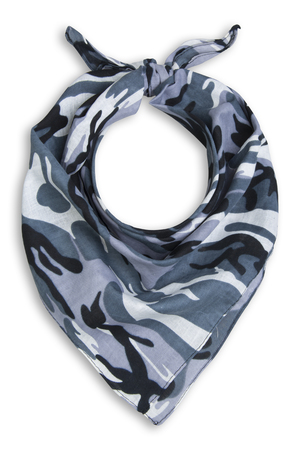 and the horizontal man: military bandana on a white background