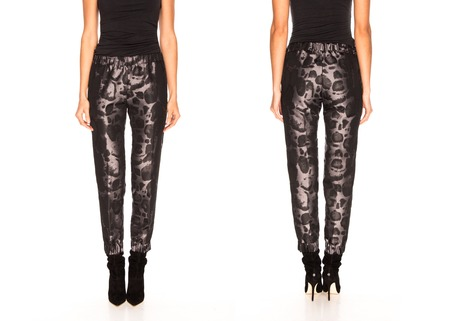 nether: Female legs in  trousers and high heel shoes