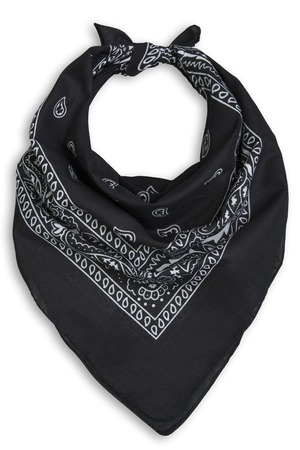 classic black bandana on a white background Standard-Bild