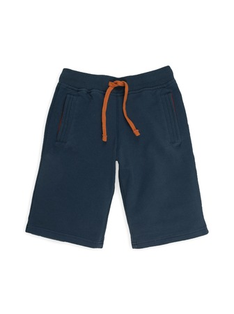 nether: blue childrens pants on a white background,
