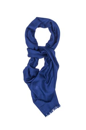 blue silk: Blue silk scarf on a white background Stock Photo