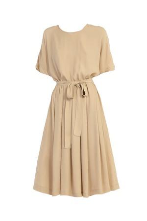 화이트 절연 베이지 색 드레스