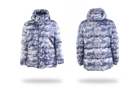 casual wear: winter jacket on white background