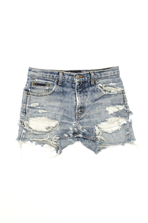 ripped jeans: ripped jeans shorts isolated on white