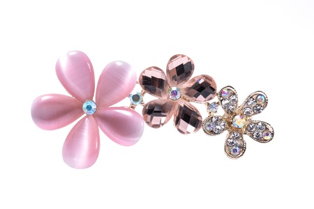 brooch: brooch with flowers isolated on white