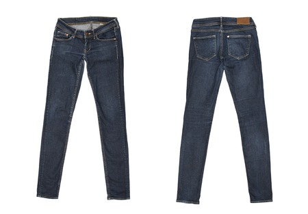 women jeans: jeans Isolated on white