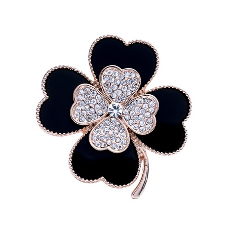brooch flower isolated on white