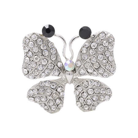 luxe: Brooch butterfly isolated on white