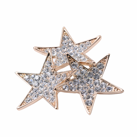 broach: stars brooch isolated on white