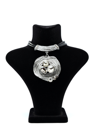 finery: Pendant with diamonds on a mannequin