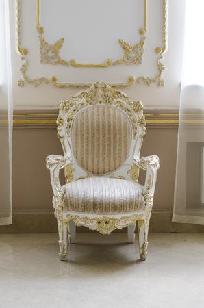 baroque room: retro chair in the interior Stock Photo