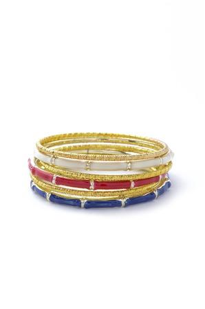 wristlet: gold bracelet consisting of several parts