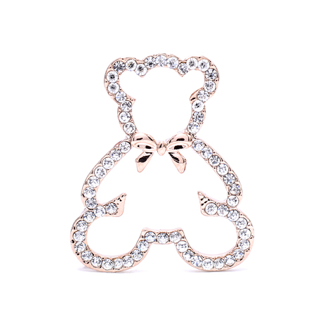 pretty s shiny: brooch teddy bear isolated on white