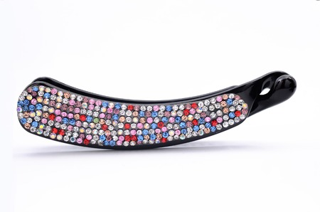 hair clip: hair clip with rhinestones isolated on a white