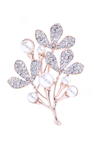 brooch: brooch bouquet isolated on white