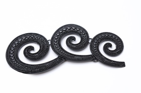brooch: brooch wave isolated on white Stock Photo