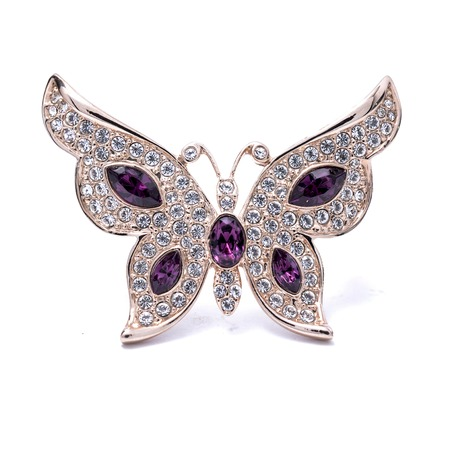 brooch in the shape of a butterfly on a white background Banco de Imagens