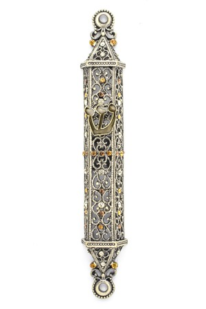 mezuzah: mezuzah on a white background Stock Photo