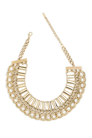 gold necklace: gold necklace isolated on white