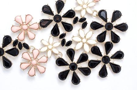 gemstones: pattern of flowers gemstones