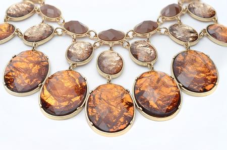 piedras preciosas: Collar con piedras preciosas Foto de archivo