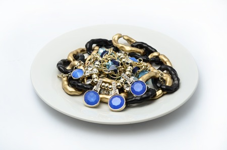 jewels: plate with jewels