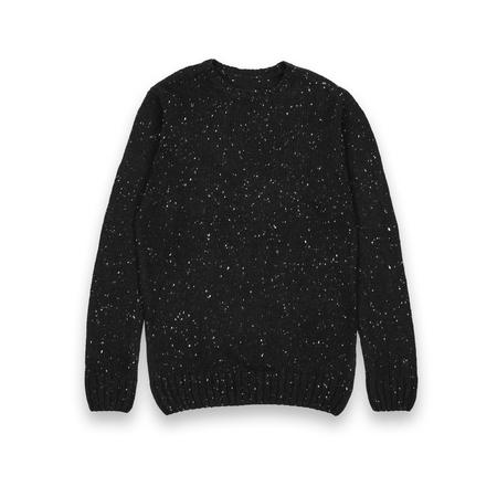 unisex: unisex black sweater isolated on a white