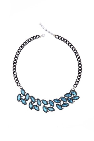 coulomb: necklace with blue stones isolated on white