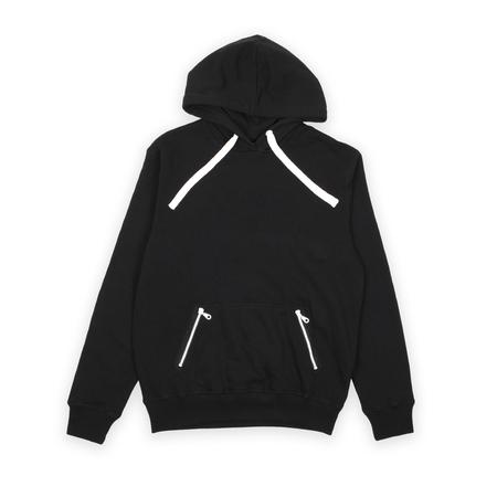 hoody: black hoody isolated on white