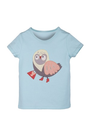 children T-shirt with a pattern isolated on white