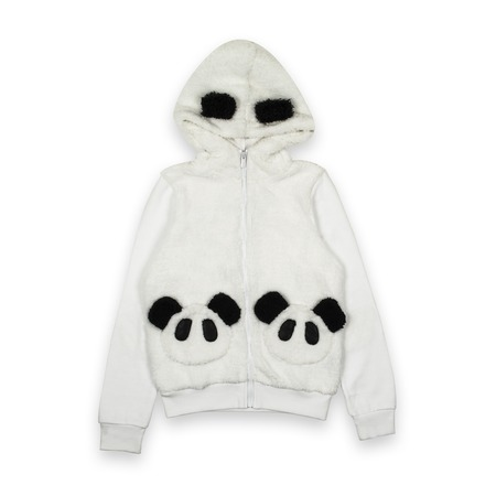 hoody: panda  hoody isolated on white Stock Photo