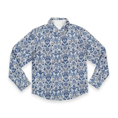 designer baby: Mens blue shirt isolated on white