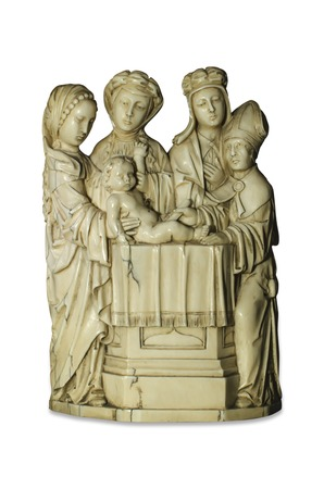 bible altar: statuette of a religious motive Stock Photo