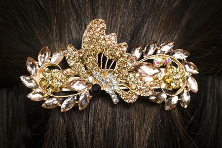 barrettes: barrette in the hair