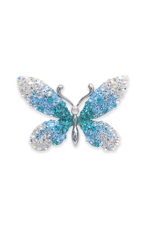 luxe: brooch butterfly on a white background