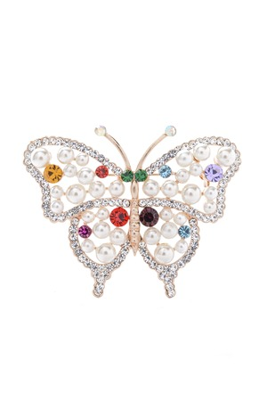 brooch: butterfly brooch a  on a white background