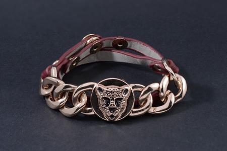 wristlet: Bracelet isolated on black Stock Photo