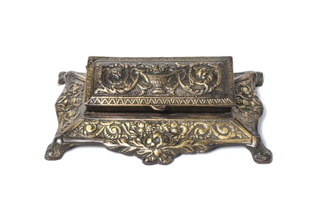 inkstand: vintage inkwell Stock Photo