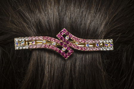 barrette: barrette in the hair
