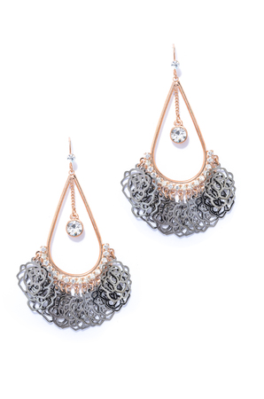 sumptuousness: earrings on a white background