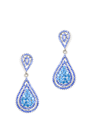 luxe: earrings drops on a white background