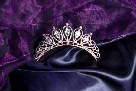 tiara on a silk Stock Photo