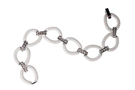 wristlet: white bracelet on a white background