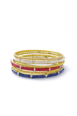 luxe: gold bracelet consisting of several parts