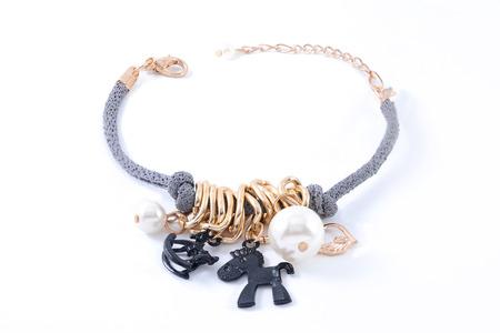 Childrens bracelet on a white background
