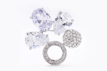 piedras preciosas: broche de piedras preciosas Foto de archivo