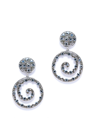 sumptuousness: earrings helically on white background