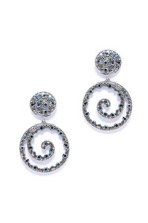 dearness: earrings helically on white background